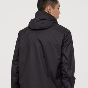 {H&M} Men's Windbreaker Rain Jacket Hoodie Black